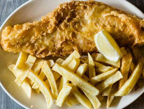 Kingfisher fish and chip restaurant for Fish chips restaurant